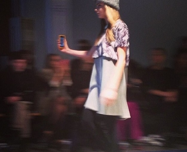 Cara Delevigne Has Been Taking Selfies On The Catwalk