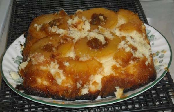 16.) Pineapple upside-down-and-exploded cake! Yum!