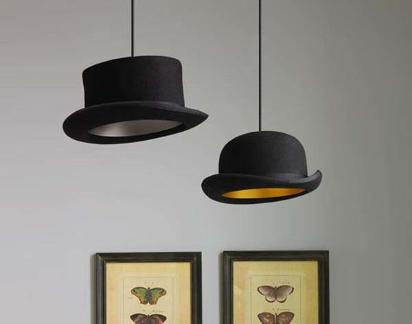9.) Visit a thrift shop,buy some old hats and make awesome lamps.