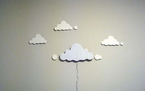 11.) This cloud cutout lamp is simple, but beautiful.