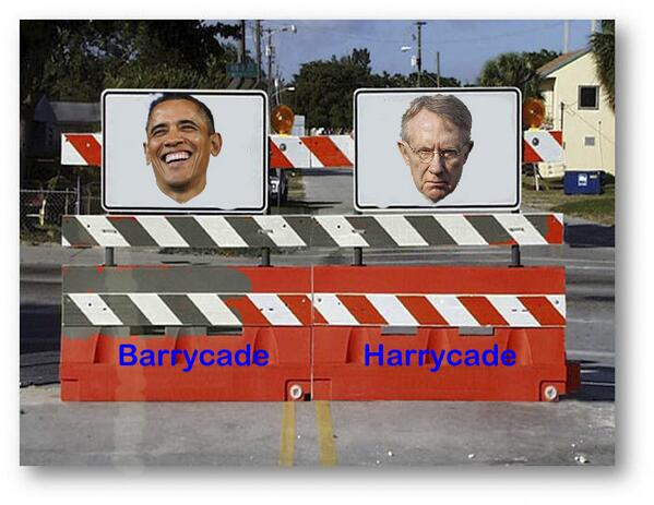 Perfection! Check out sign on Barrycade transported by vets to WH [pic]