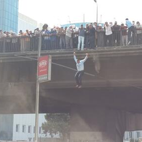 People reportedly 'jumping, falling' off Cairo bridge amid 'Day of Rage' chaos [photos]
