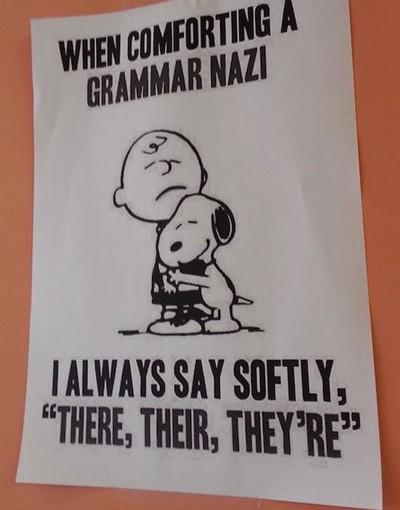 When Comforting A Grammar Nazi…