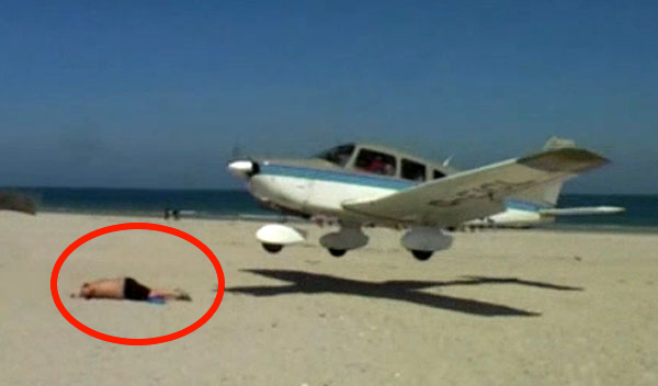 This Would Give Me A Heart Attack! Just Keep Your Eye On That Guy Sunbathing…