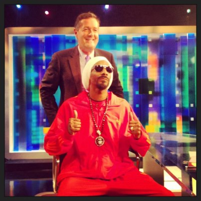 Hypocrisy: Piers puts pic with violence-glorifying Snoop on Twitter profile