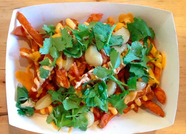 Dynamite Fries at Oi Asian Fusion.