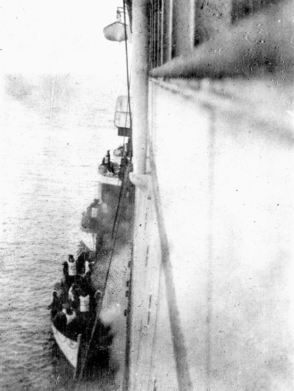 These are survivors from the Titanic boarding the Carpathia in 1912.