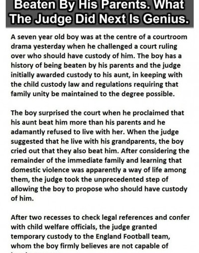 A 7 Year Old Boy Was Being Beaten…