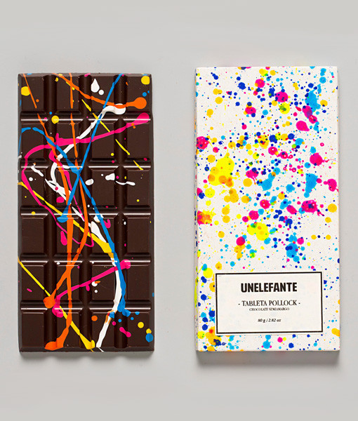 4. Jackson Pollock inspired chocolate