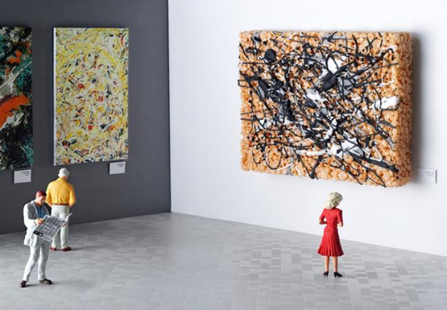 5. Jackson Pollock inspired rice crispy