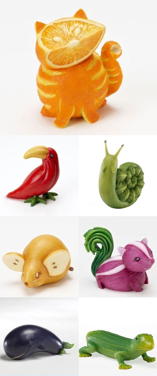 10. Fruit and Veggie Animals