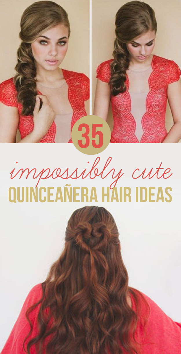 Brilliant 35 Impossibly Cute Quinceanera Hair Ideas Car Insurance Quotes Hairstyles For Men Maxibearus