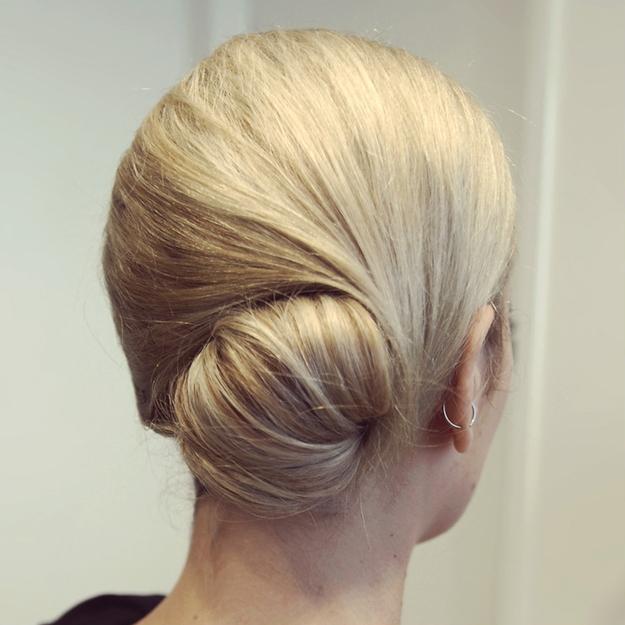 Rock a low, glamorous bun.