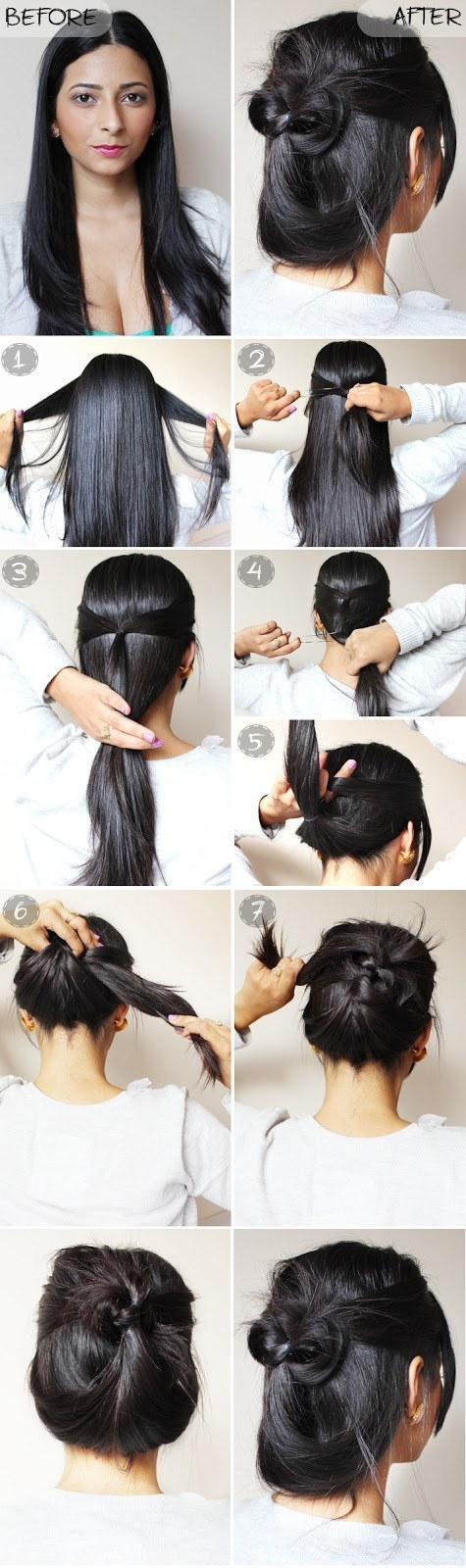 Give this quick and easy updo a go.