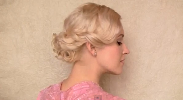 Create this charming twist updo in four easy steps.