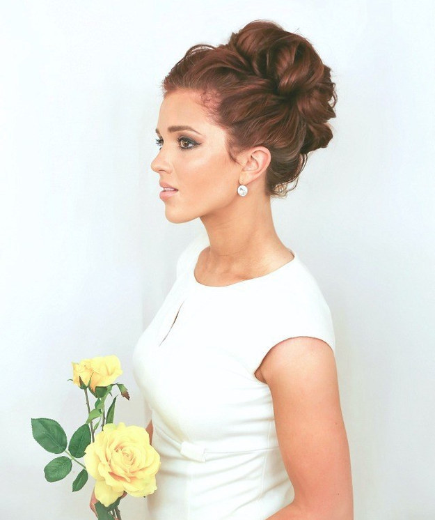 Try a classy curly updo.