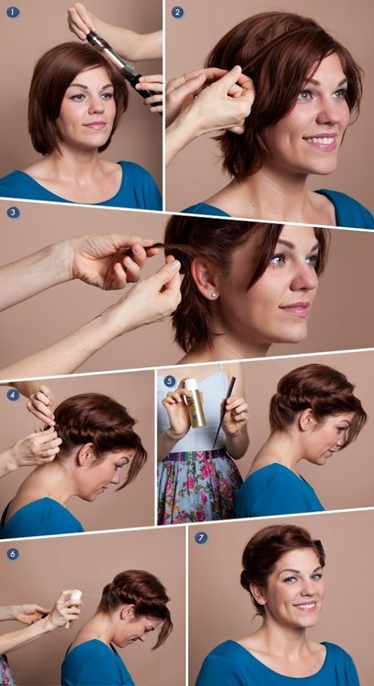 Create a cute updo, even if you've got a short bob.