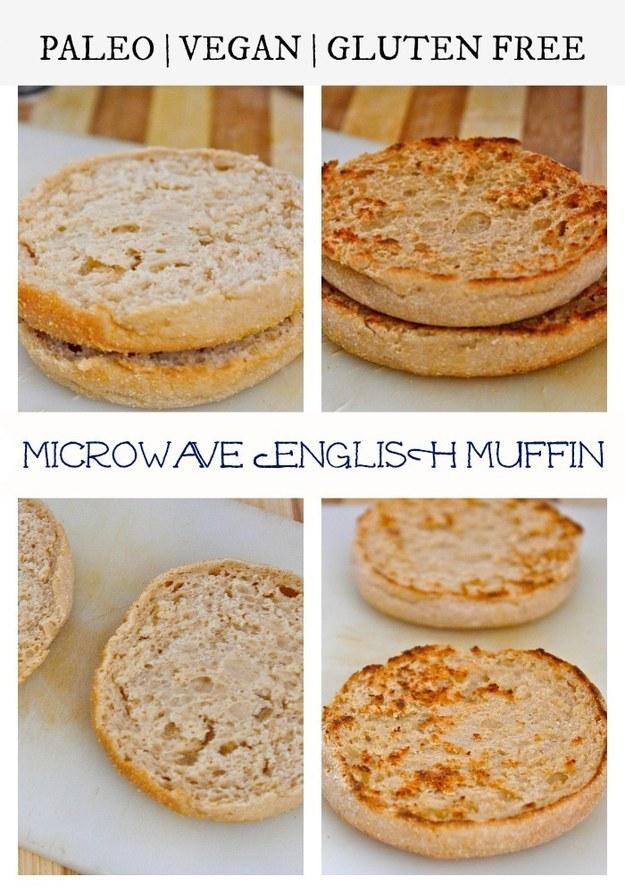 Vegan, Grain-Free Microwave English Muffin