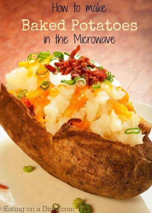 Loaded Microwave-Baked Potato