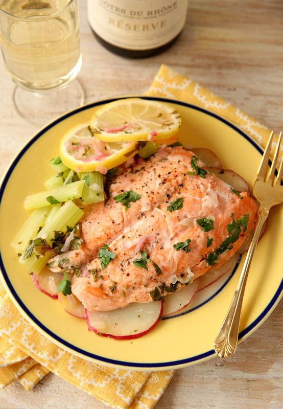 Microwave Salmon en Papillote