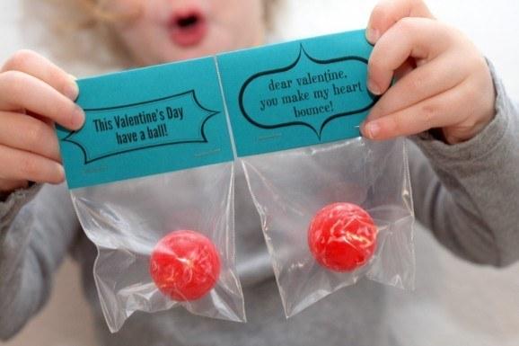Bouncy balls.