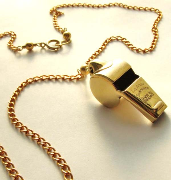 4.) An anti-rape whistle that can be worn as jewelry.