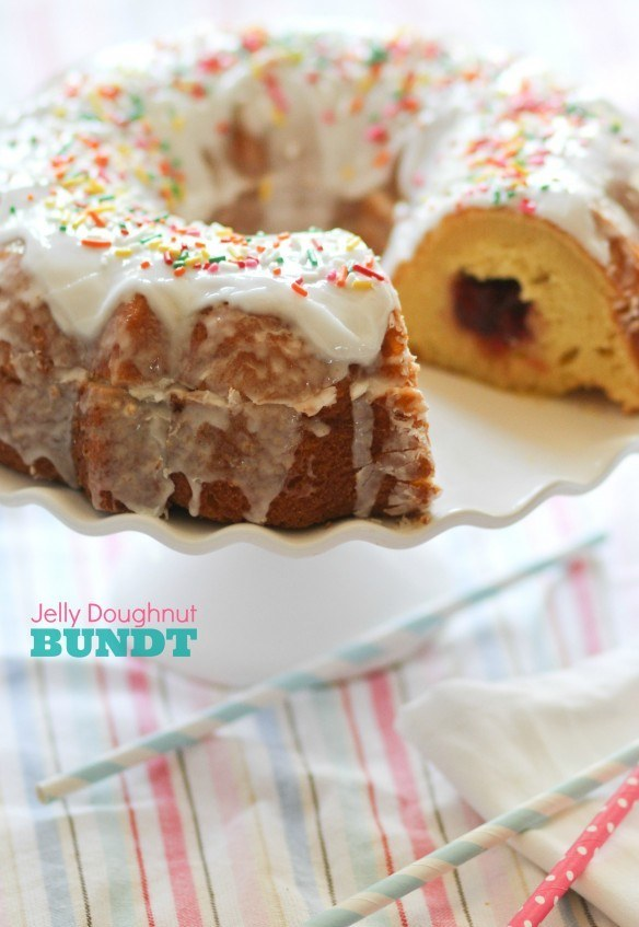Jelly Doughnut Bundt Cake
